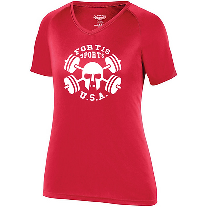 Fortis Sports USA Logo B (White) Women's Compression Shirt