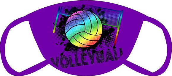 Colorful Volleyball Face Mask