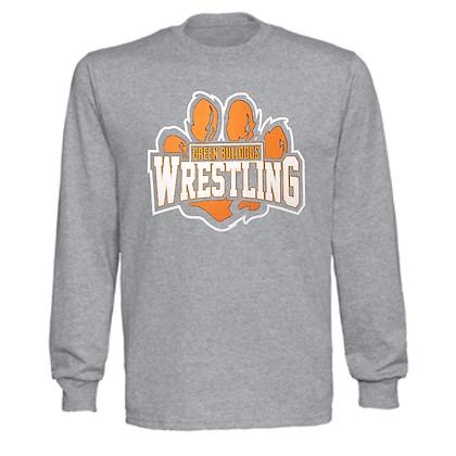 Green Bulldogs Wrestling Logo #59 Unisex Long Sleeve Long
