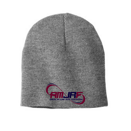 AMJRF Beanie With Embroidered Navy and Maroon Logo