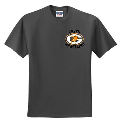 Green Bulldogs Wrestling Logo #12 Unisex T-Shirt