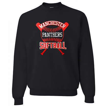 Manchester Panthers Softball Logo #68 Unisex Crew Neck Sweater