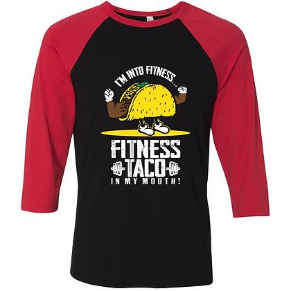 Fitness Taco Baseball Tee