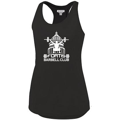 Fortis Weightlifting Barbell Club (White Logo) Ladies Tank