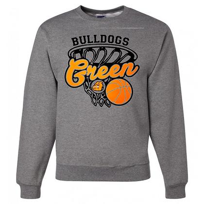 Green Bulldogs Basketball Logo #28 Unisex Crew Neck Sweater