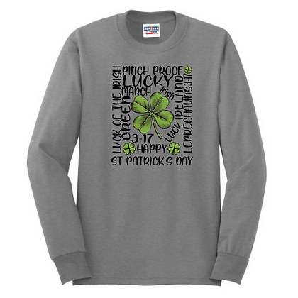 St. Patrick's Day Shamrock Unisex Cotton blend Long Sleeve