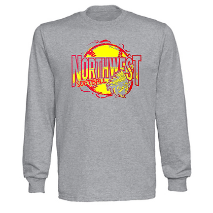 Northwest Indians Softball #61 Unisex Long Sleeve
