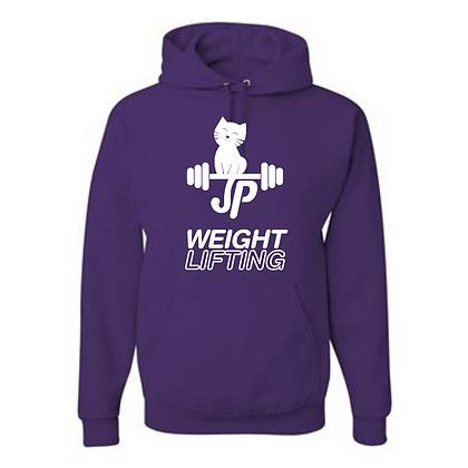 JP Weightlifting Unisex Cotton blend Hoodie White Logo