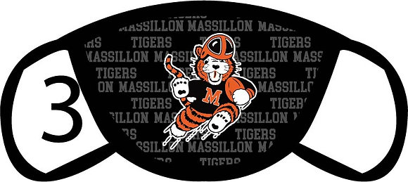 Massillon Tigers Face Mask
