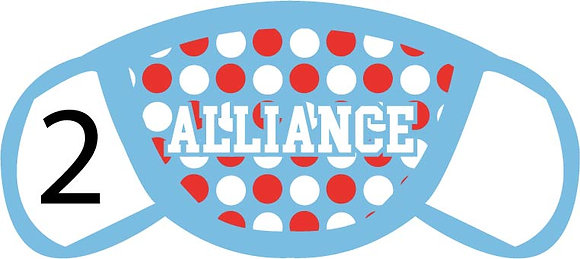Alliance Polka Dots Face Mask