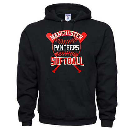 Manchester Panthers Softball Logo #68 Unisex Hoodie