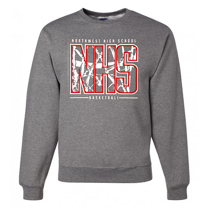 Northwest Indians Basketball Logo #33 Unisex Crew Neck Logo