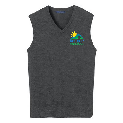 Summit Preschool Embroidered Sweater Vest