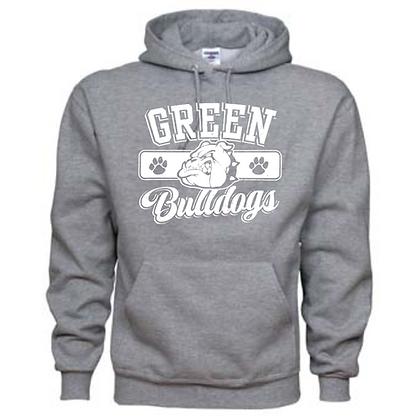 Green Bulldogs General Logo #1 Unisex Hoodie