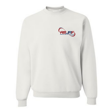 AMJRF Navy and Maroon Left Chest Unisex Crew Sweatshirt