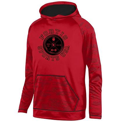 Fortis Sports USA Logo C (Black) Sleet Hoodie