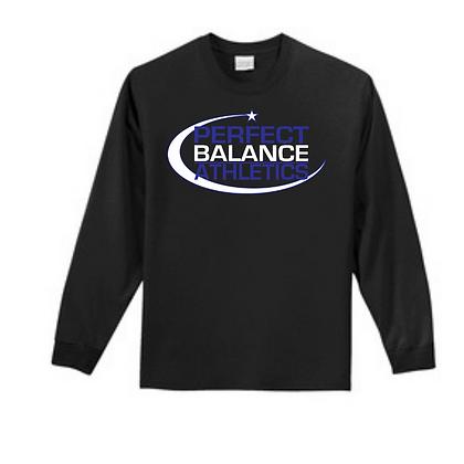 Perfect Balance Athletics Logo (Blue & White) Unisex Long Sleeve Tee