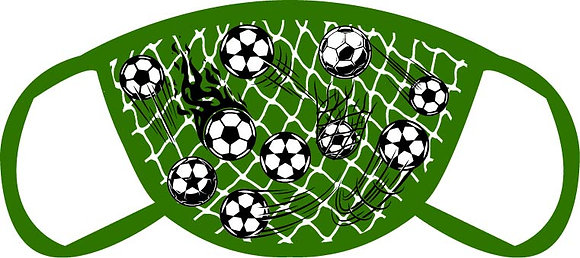 Soccer Balls and Net Face Mask