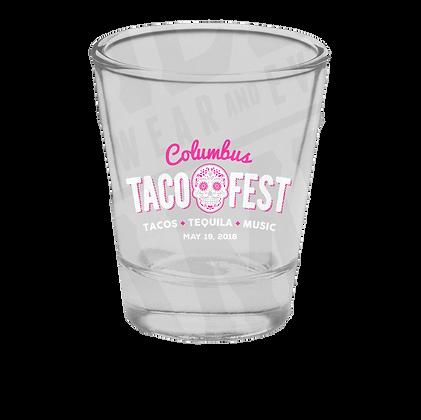 Columbus Taco Fest Commemorative Shot Glass