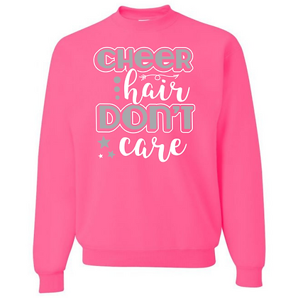 Cheer Hair Don't Care Unisex Crew Neck Sweater