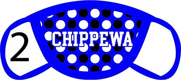 Chippewa Polka Dots Face Mask