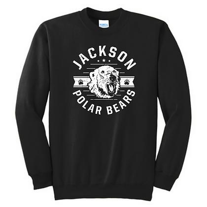 Rounded Distressed Jackson Crewneck Sweatshirt