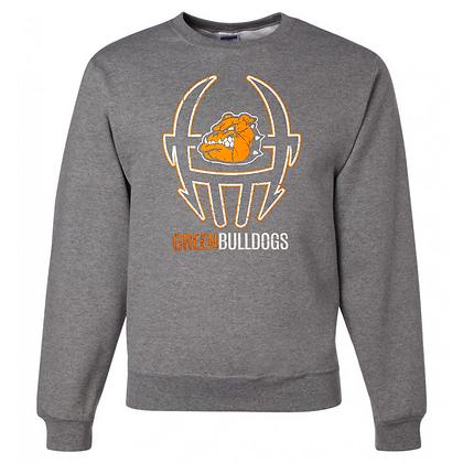 Green Bulldogs Football Logo #39 Unisex Crew Neck Sweater