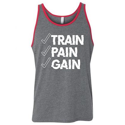 Train Pain Gain Unisex Tank Top