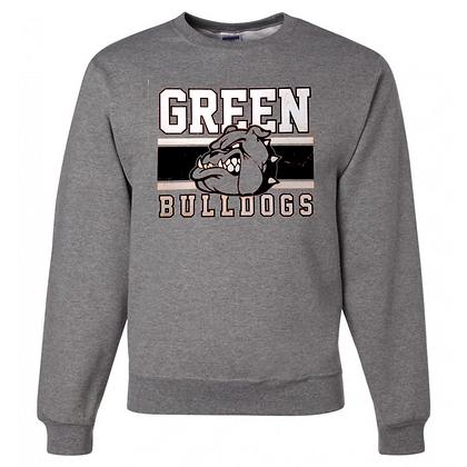 Green Bulldogs General Logo #2 Unisex Crew Neck Sweatshirt