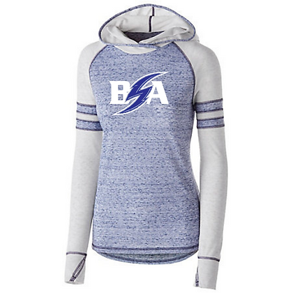 Blue Storm Athletics Logo (White & Blue) Advocate Hoodies
