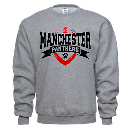 Manchester Panthers Football Logo #62 Unisex Crew Neck Sweater