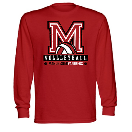 Manchester Panthers Volleyball Logo #81 Unisex Long Sleeve T-Shirt