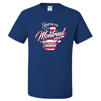 USA Masters Weightlifting Going to Montreal Team T-Shirt