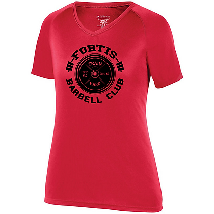 Fortis Weightlifting Barbell Club Logo C (Black) Womens Compression Shirt