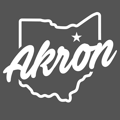 Akron White Script