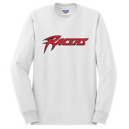 Akron Racers Unisex Cotton blend Long Sleeve Design 1