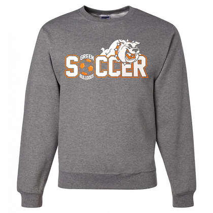 Green Bulldogs Soccer Logo #46 Unisex Crew Neck Sweater