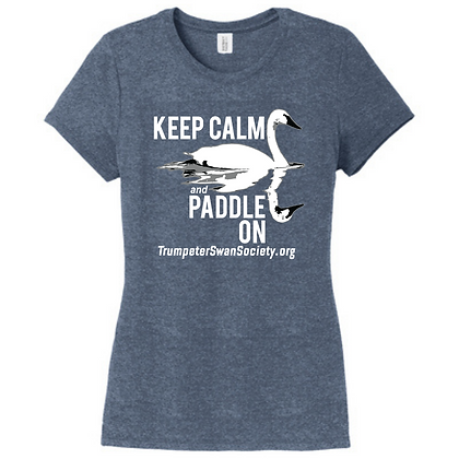 TTSS Keep Calm and Paddle On Ladies Triblend