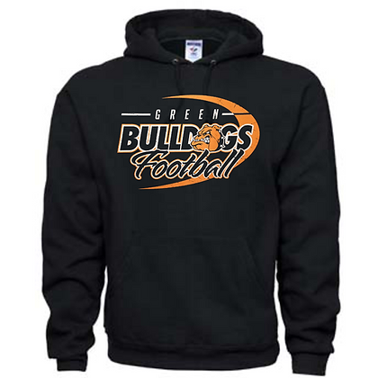 Green Bulldogs Football Logo #43 Unisex Hoodie