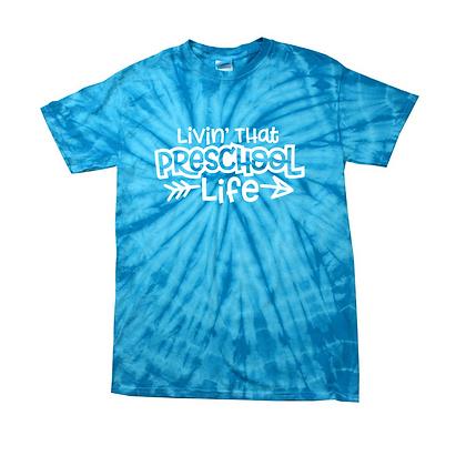 Livin' That Preschool Life Youth Tie-Dye Shirt