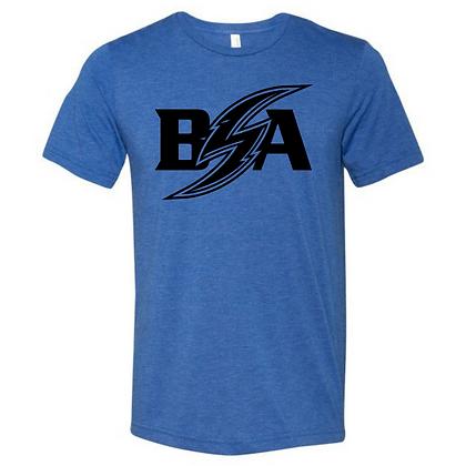 Blue Storm Athletics Logo (White & Black) Unisex Triblend