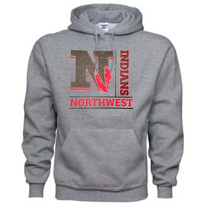 Northwest Indians General Logo #4 Unisex Hoodie