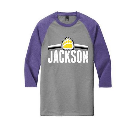 Jackson Arch Purple Sleeves Baseball Tee