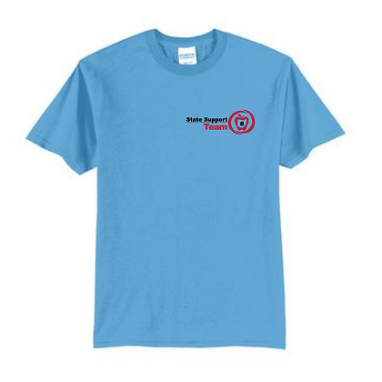 State Support Team Left Chest Adult Shirt