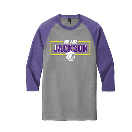 We Are Jackson Purple Sleeves Baseball Tee