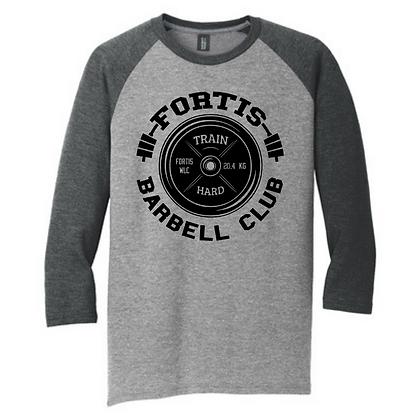 Fortis Weightlifting Barbell Club (Black Logo C) 3/4 Sleeve Long Sleeve
