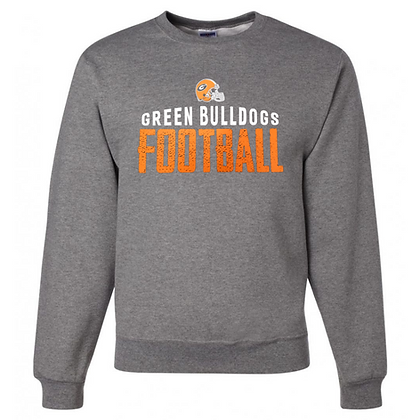 Green Bulldogs Football Logo #42 Unisex Crew Neck Sweater