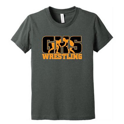 Green Bulldogs Wrestling Logo #3 Unisex Triblend T-Shirt