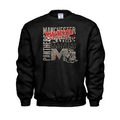 Manchester Panthers Wrestling Logo #89 Unisex Crew Neck Sweater