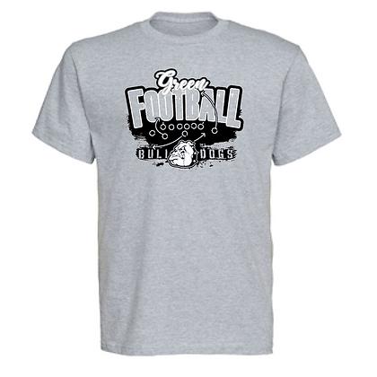 Green Bulldog Football Logo #37 Unisex T-Shirt